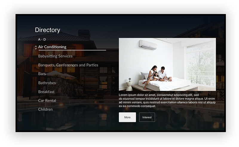 TV-interface-directory