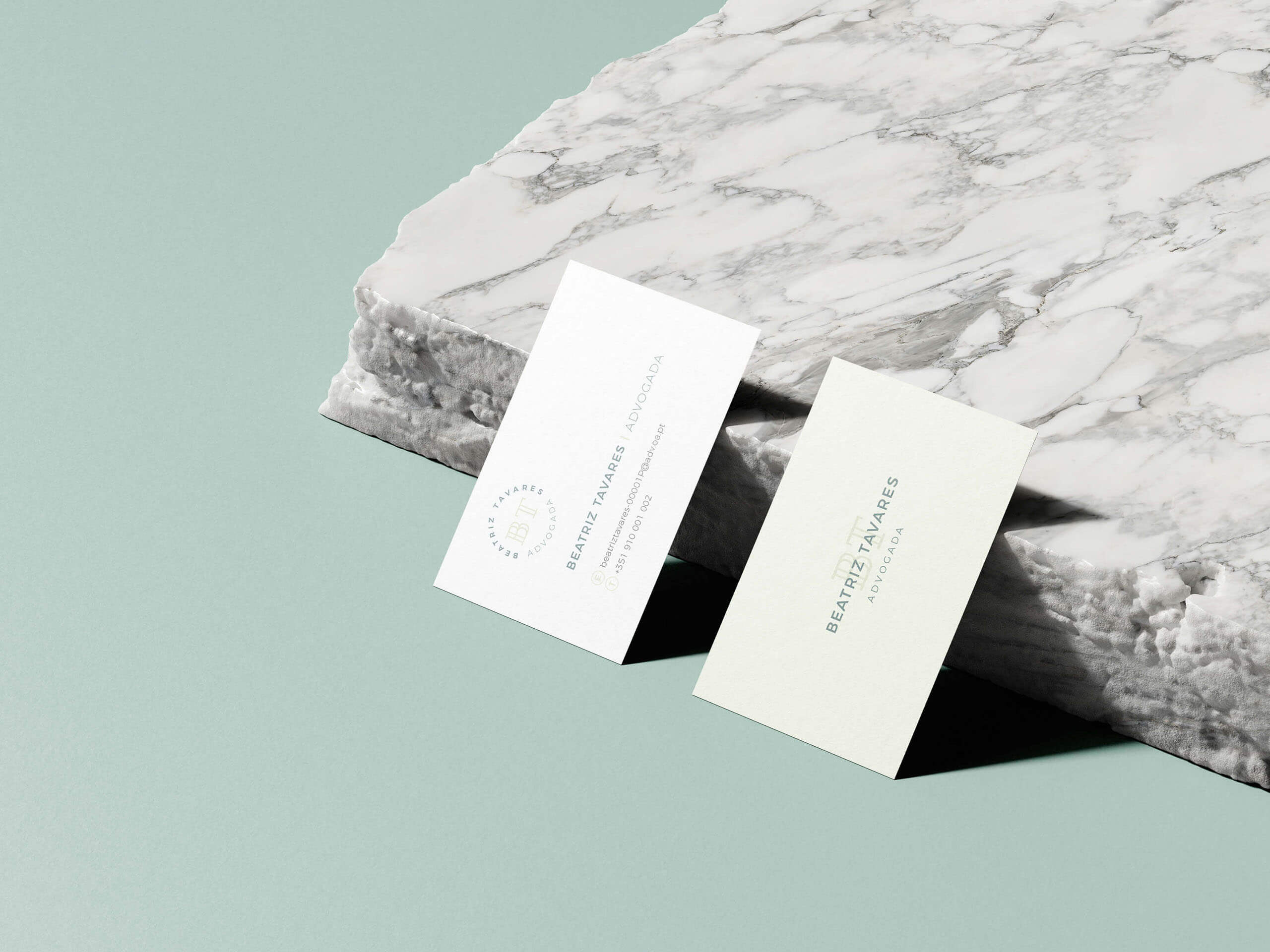 Business cards for young lawyer